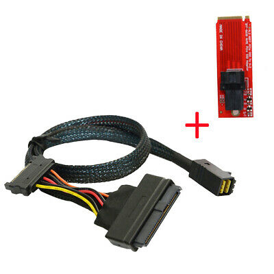 Cablecc NVME PCIe SSD U.2 Kit SFF-8639 Adapter & Cable for Mainboard Intel SSD
