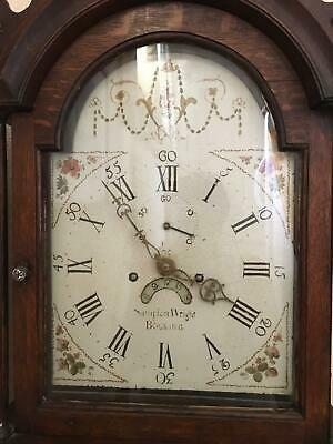 Antique long case /Grand father clock with painted dial