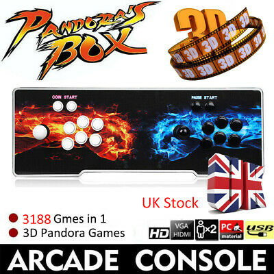 3188 In 1 3D/2D Pandora's Box 12 Retro Home Game Players Arcade Console 1280P HD