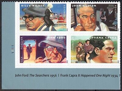 USA Sc. 4671a (45c) Great Film Directors 2012 MNH block of 4