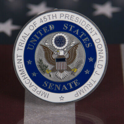 Rare 2020 Presidential Impeachment Trial Challenge Coin Numbered Potus Trump