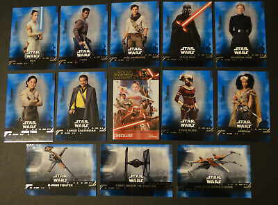 Topps STAR WARS THE RISE OF SKYWALKER MOVIE 2019 | select > BLUE BASE cards