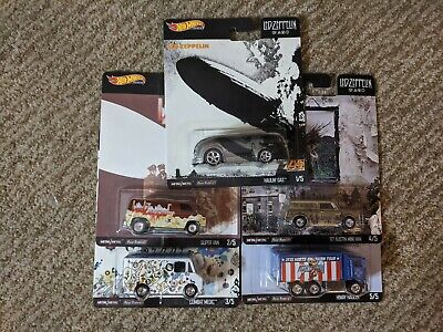 2020 Hot Wheels Premium Led Zeppelin Set of 5 Pop Culture