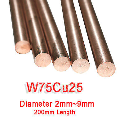 RWMA CL 10 W70//30 Alloy L Copper Tungsten Round Rod 1//8/'/' x12/'/' D