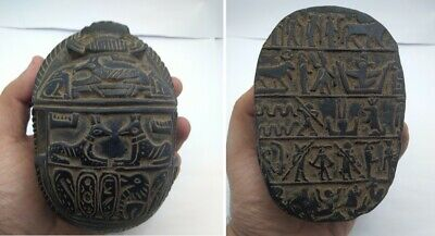 Rare Ancient Egyptian Antique Scarab 1456-1236 Bc (6)