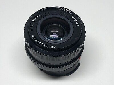 MC Cosmicar 28mm f/2.8 wide Angle Lens for Pentax K Mount Camera