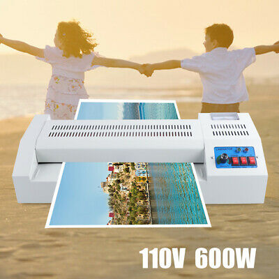 "13"" Lamination Machine Thermal Laminator A3A4 Four Roller Hot Cold Film Laminate"