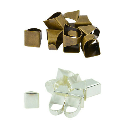 Brass Ring Blanks Flat Blank Rings with Rectangle Pads Jewelry Making DIY