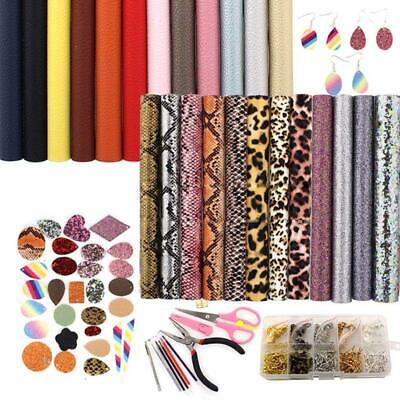24pcs Leather Earring Making Kit Double-sided Sheet Jewellery Making Supplies