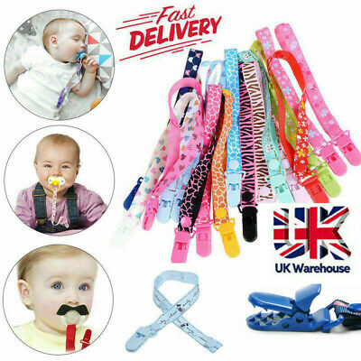 Baby Soother Clips Teething Dummy Clip Baby Teether Chain Holder Pacifier Strap