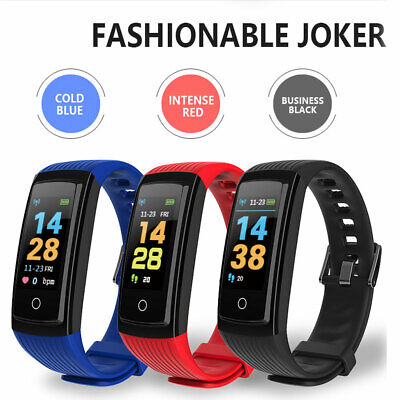 Bluetooth Smart Bracelet For Fitbit Heart Rate Monitor Watch Pedometer Tracker