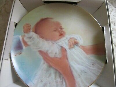 Christening Gift PLATE 20CM IN BOX., ABBIE WILLIAMS.  BY ROMAN ,