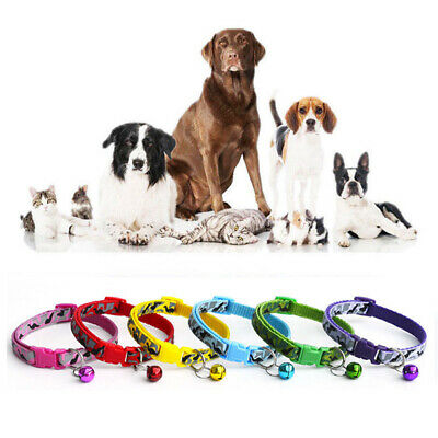 Camo Adjustable Pet Dog Cat Collar Reflective Breakaway Safety Collar with Bell