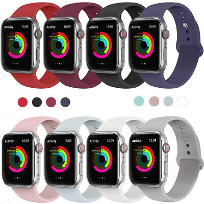 Silicone Sports iWatch Band Strap for Apple Watch 40/44mm 38/42mm Series 5 4 3 2