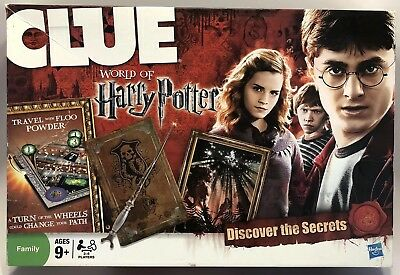 CLUE World of Harry Potter Mystery Board Game Hasbro 2011 Missing 1 Floo Powder