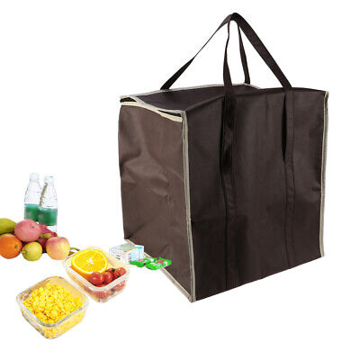 1pc Insulated Bag Nonwovens Grocery Bag for Camping Picnics Supermarket Shopping