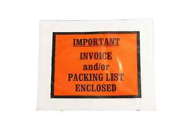"""4.5"""" x 5.5"""" Important Invoice / Packing List Envelope Full Face 4000 Pieces"""