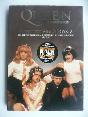 Queen - Greatest Video Hits 2 (DVD, 2003, 2-Disc Set) with slip cover