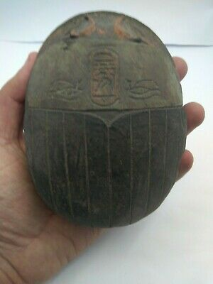 RARE ANCIENT EGYPTIAN ANTIQUE SCARAB Carved Stone 1798-1569 BC (8)