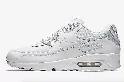 Details about NIKE AIR MAX 90 LEATHER TRAINERS, UK10, TRIPLE BLACKBLACK, 302519001, OG RETRO