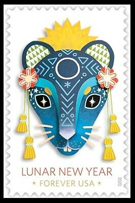 2020 US Stamp - Year of the Rat - Single - SC# 5428