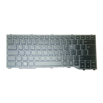 New US keyboard for Fujitsu LifeBook E544 with Black frame