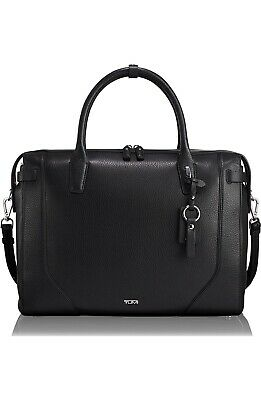 NEW Tumi Stanton Irina Laptop Commuter Briefcase - Black Leather