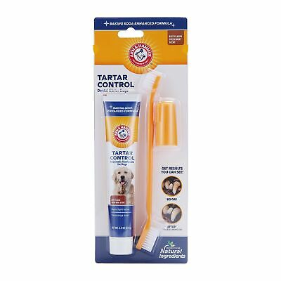 Arm & Hammer Dog Dental Care Tartar Control Kit for Dogs Beef