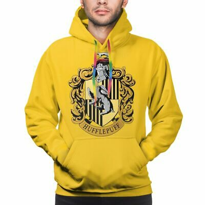 Harry Potter Houses Hufflepuff Gryffindor Men Pullover Hoodies Casual Sweatshirt