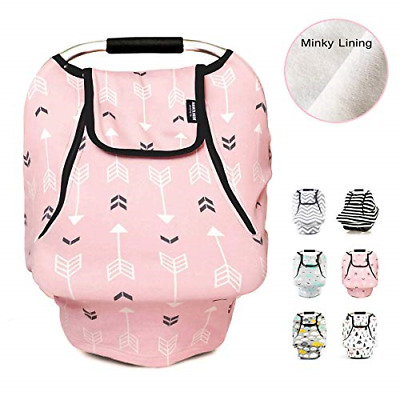 Stretchy Baby Car Seat Covers For Boys Girls - Infant Car Canopy Winter Autumn