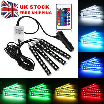 12V LED Strip Lights Car Interior - 36 Mood Footwell Dimmable Ambient...