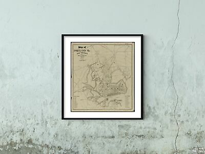 MAP ANTIQUE 1610 SPEED CUMBERLAND CUMBRIA CARLISLE REPLICA POSTER PRINT PAM1608