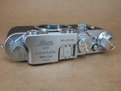 Leitz Leica IIIc converted to IIIf Black Dial with Delayed Action 1946/7
