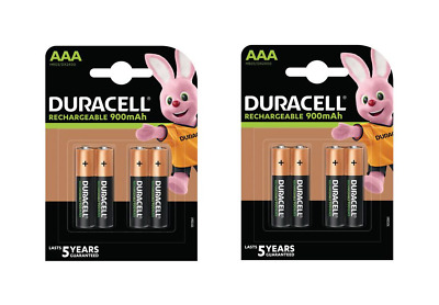 8 piles AAA DURACELL rechargeables HR03 900 mAh