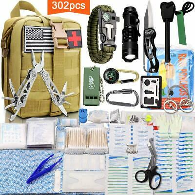 302 in 1 Outdoor Survival Gear Kits Camping SOS EDC Self Defense Emergency Kit