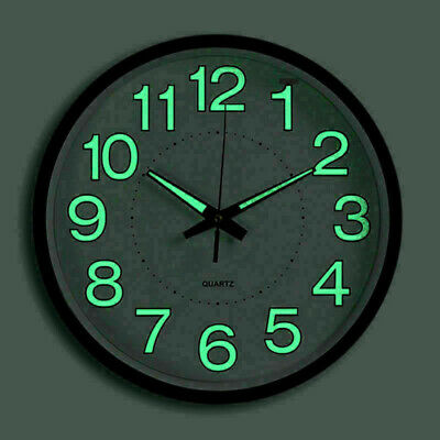 Wall Clock Beautiful Green LED Analog Round Quartz Clock Design Clock RoundB VG