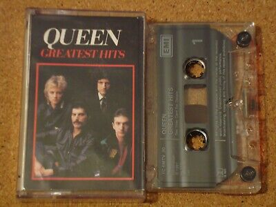 QUEEN - Greatest Hits - cassette tape album, clear shell
