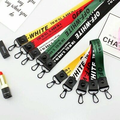 Off White Industrial Lanyard Key Ring Keychain! US Free and Fast Shipping!