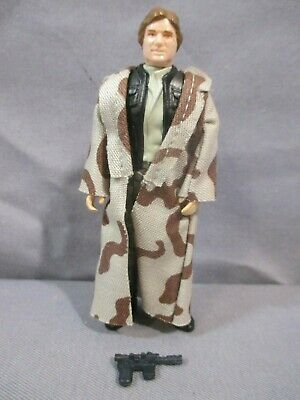 Star Wars HAN SOLO TRENCH COAT Complete Kenner Return of the Jedi 1984 Vintage