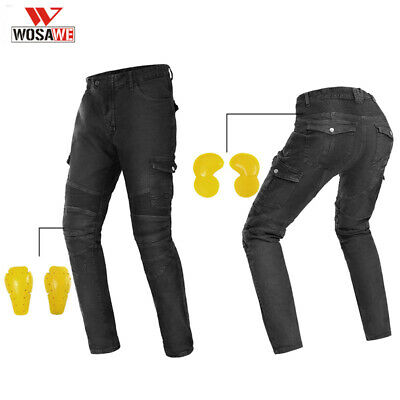 Mens Motorcycle Jeans Racing Pants Motorbike Trousers Detachable Protectors Gear
