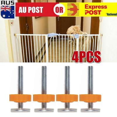 4X Baby Safety Stairs Gate Screws Bolts Locking Nut Spare Part Accessories Kit A