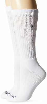 PEDS Women's Diabetic Crew Socks with Coolmax and Non-Binding Funnel Top 2 Pa...