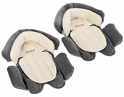 2-in-1 Head Support - Cuddle Soft, Grey/Ivory (2-Pack)