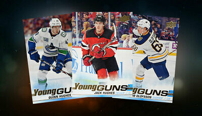 2019-20 Upper Deck UD Hockey Cards YOUNG GUNS U PICK COMBINE SHIPPING  Hughes