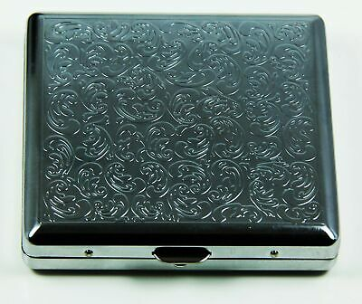 RFID Blocking Victorian Style Classic Metallic Silver Color Double Sided King...