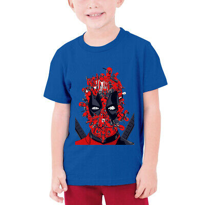 Funny Deadpool Marvel Graphic Kids Teens Cotton T-Shirt Casual Short Sleeve Tops