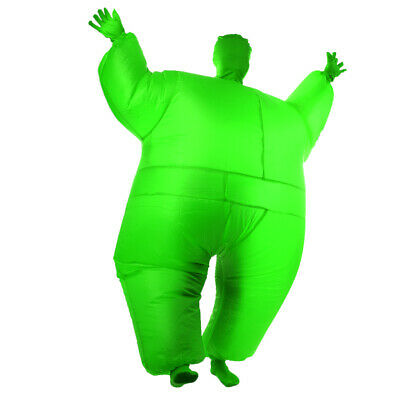 Novelty Inflatable Fat Chub Full Body Suit Fancy Dress Costume Green