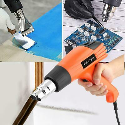 1600W Electric Heat Gun Professional Hot Air Gun 380/500℃ with 4 Nozzles UK Plug
