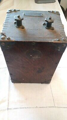 Early Hand Crank BLASTING DETONATOR/TELEPHONE RINGER? by Holtzer Cabot Co.