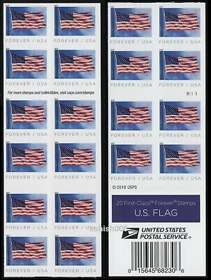 2019 US STAMP - US FLAG - FOREVER BOOKLET OF 20 (BCA) - SC# 5345/5345a
